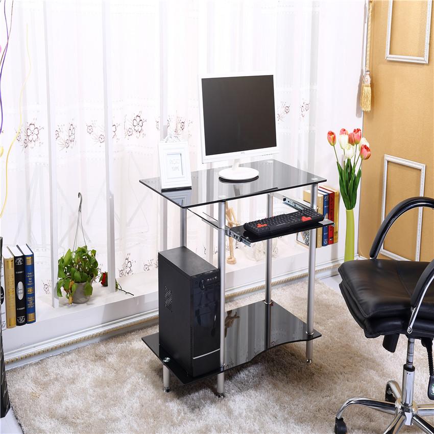 Online kopen Wholesale computer bureau zwart glas uit China computer bureau zwart glas