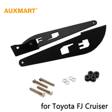 pair black solid steel 50inch 52inch straight curved led light bar roof top mounting bracket Toyota FJ Cruiser 2007-2014 - Auxmart Official Store store