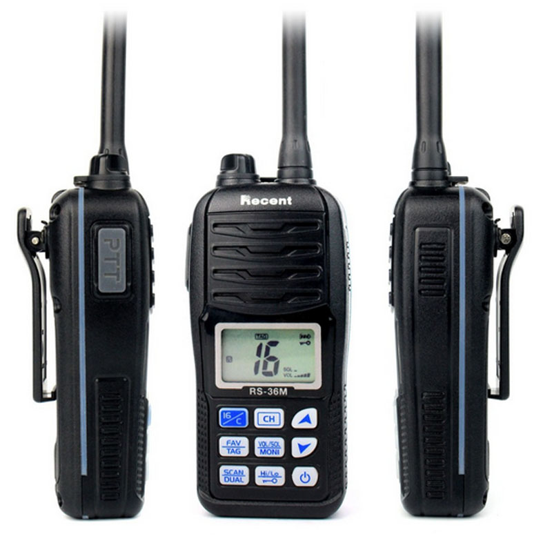 Free Shipping High Quality Compact 1500MAH Rechargeable Handheld VHF Marine Radio Transceiver(China (Mainland))
