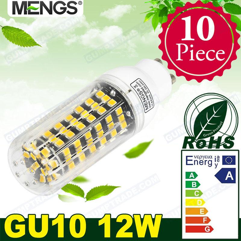 MENGS 10Pcs per pack GU10 12W LED Corn Light 123x 2835 SMD LED Lamp Bulb in Warm White / Cool White Energy-saving Lamp<br><br>Aliexpress