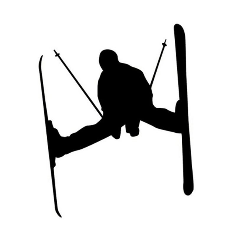 12.5*15CM Nordic SKI Race Sport Car Stickers Fun Fitness Extreme Sports Sticker Decals CT-780(China (Mainland))