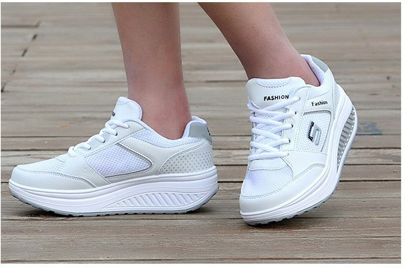 Slimming shoes women fashion leather casual shoes women Fitness Lady Swing Shoes Summer Factory Whose Top quality