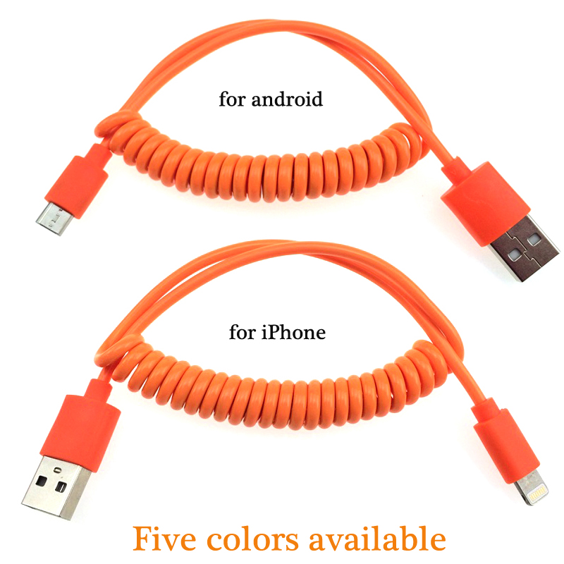 Flexible New Mobile Phone Charger Cable Mini Micro USB Cable for iPhone 5 5S 6 6S Samsung Galaxy Sony HTC Android Phones(China (Mainland))