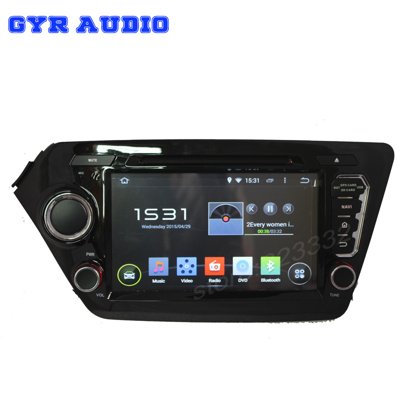 1024*600hd screen Android 4.4 car dvd gps navigation radio player for Kia k2 rio 2011-2014 with code CPU 3g wifi Audio Video(China (Mainland))