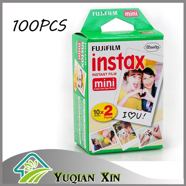 100 sheets White Edge 3 inch film Photo Paper Fujifilm Instax Mini film for Instant Camera mini 8 7s 25 50s 90 series(China (Mainland))