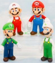Super Mario Bros Brothers Luigi Toy PVC Action Figure Toy 4pcs/set