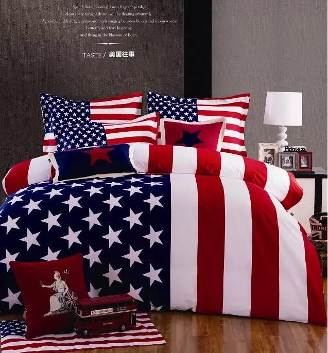 Aliexpress Com Buy American Flag Bedding Comforter Set