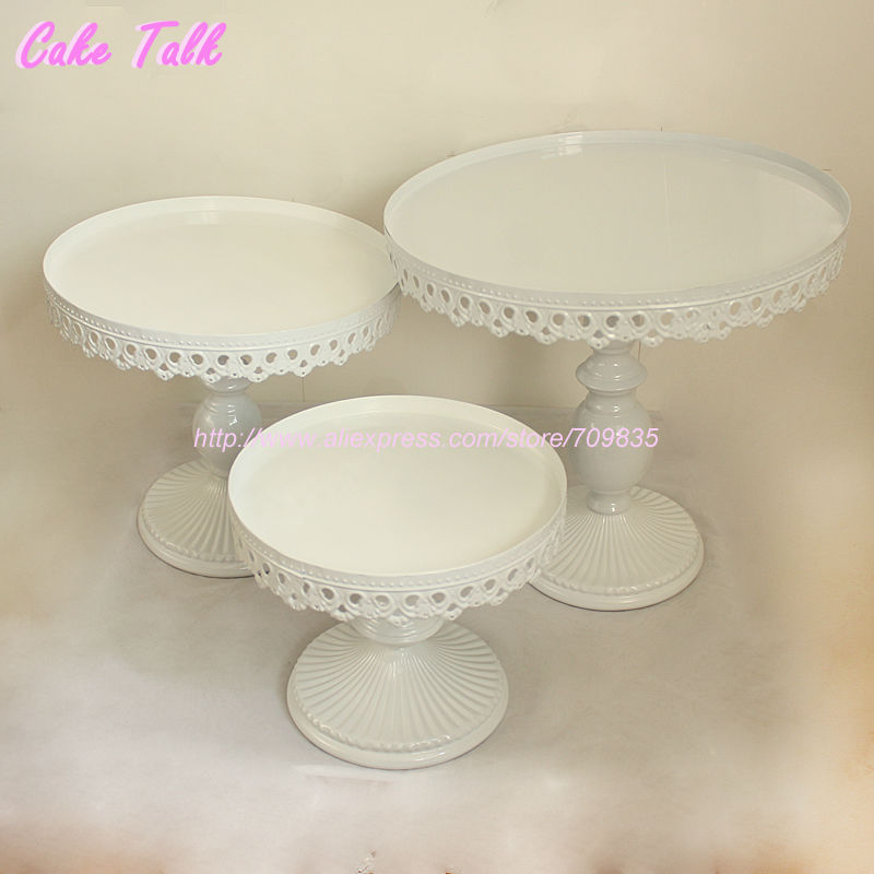 Set Of 3 White Wedding Cake Stand Party Decorator Cupcake Plate Stand 8 10 12