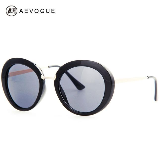 Aevogue бесплатная доставка большой овальная рамка старинные солнечные очки тавра женщин высокое качество солнцезащитные очки металлические храм UV400 AE0190