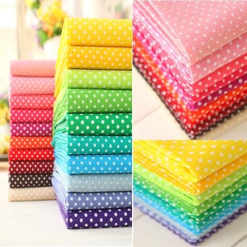 "20 Colors Assorted ""Mini Dots"" Cotton Fabric Fat Quarters Patchwork Tilda cloth Bundles Fabric for Sewing Tecido Textile Tissue(China (Mainland))"