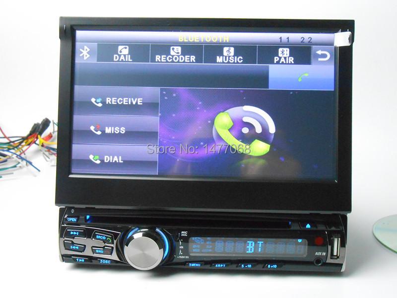 "7"" Car Radio DVD Bluetooth A2DP Handsfree USB SD FM Subwoofer Camera 1 Din(China (Mainland))"