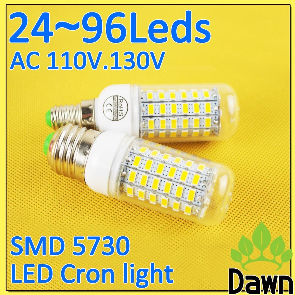7W LED Light Bulb Corn Lampada LED E27 E14  220V 110V bombillas LED lamp SMD 5730 5630 LEDs 3W 5W Samsung Spotlight Candle (China (Mainland))