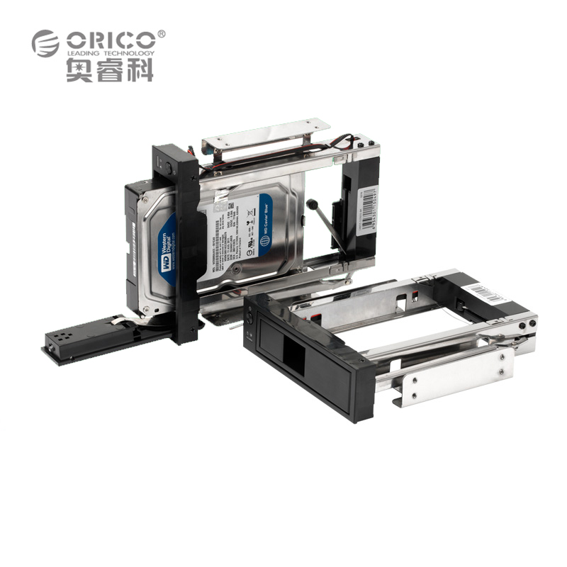 "ORICO 1106SS-BK CD-ROM Space hard disk Mobile Rack Internal 3.5"" sata hdd case HDD Convertor Enclosure 7+15 pin hdd caddy Raid(China (Mainland))"