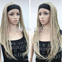 dd00824 Unique Blonde mix man-made braided wig(China (Mainland))