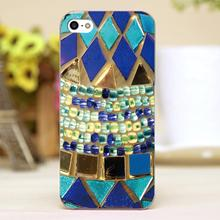 Mosaic and beads Design Customized transparent case cover cell mobile phone cases for Apple iphone 6 6plus hard shell