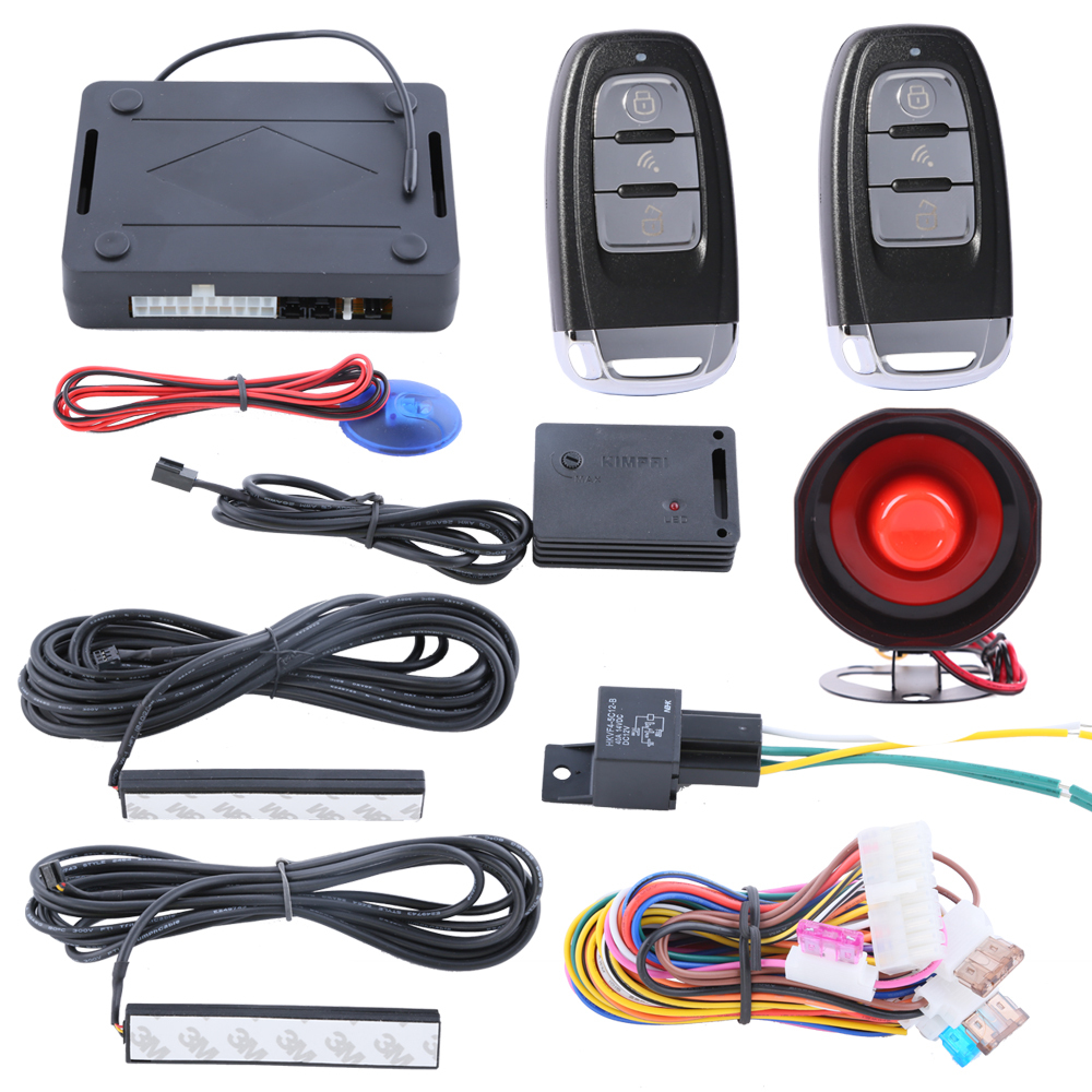 Security PKE car alarm system passive keyless entry, remote arm disarm the cars, central lock automation, 433.92MHZ(China (Mainland))