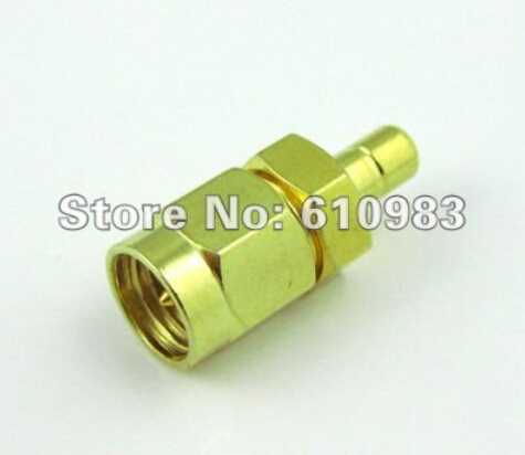 SMA to SMB Adapter SMA Male Plug to SMB Male Goldplated RF Coax Connector Adapters Straight(China (Mainland))