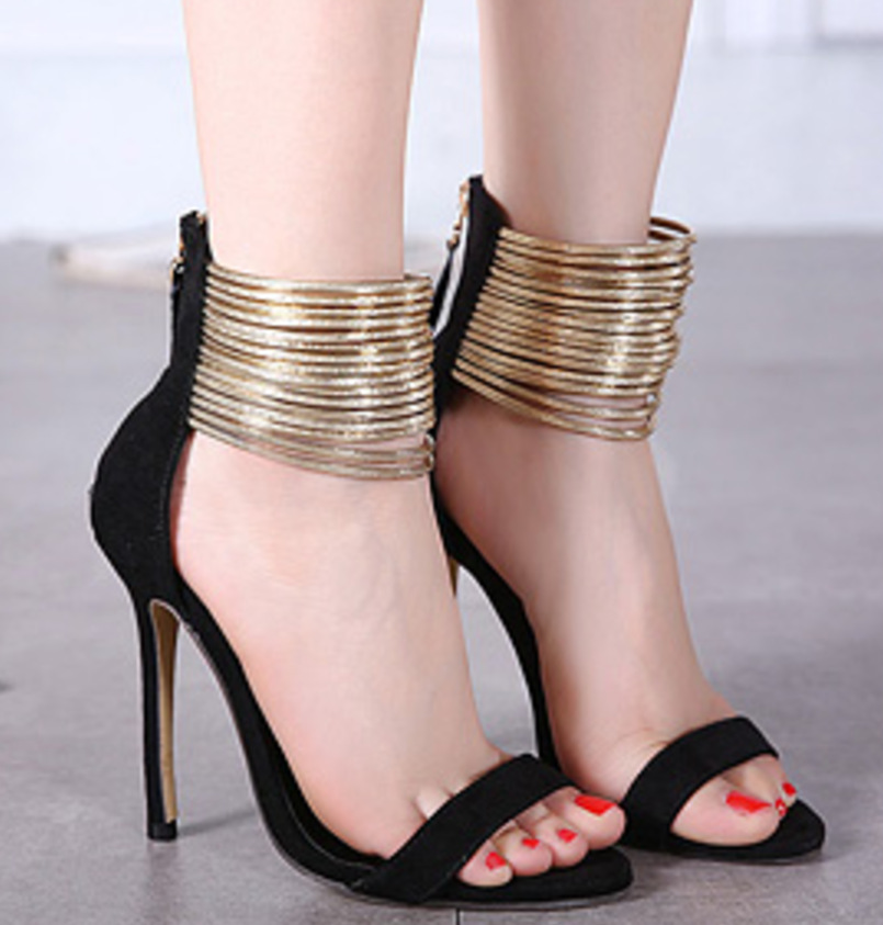 2016 New Sexy High Heeled Stiletto Shoes Ladies Fashion Sandals Suppliers Open Toe Heels Footwear 12cm Black Beige Discount(China (Mainland))