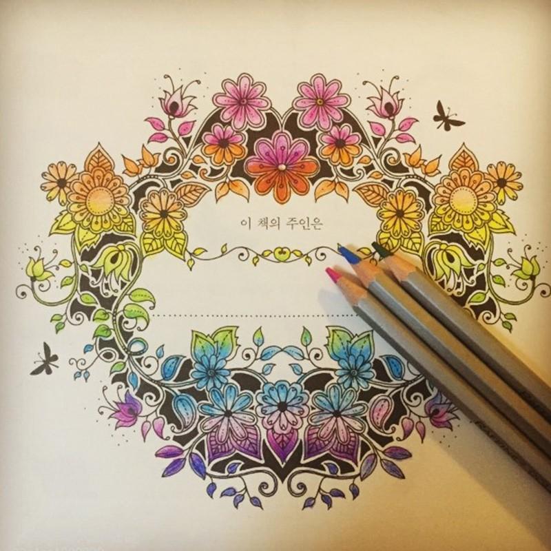2015 Graffiti Painting Drawing Book Secret Garden Coloring