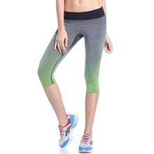 2016 Hot Women's Sports Leggings Capris Fitness Gym Running Elastic Pants Stretch Trouser SSY(China (Mainland))