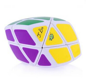 High Quality LanLan Skewb Curvy Rhombohedron Magic Cube White Educational Toy Special Toys Concept Edition Birthday Gift(China (Mainland))