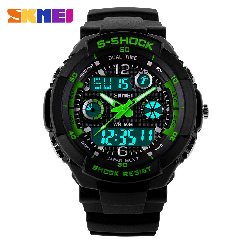 Skmei Brand Sports Watches Fashion Casual  Watches Men's S-Shock Quartz Wrist Watch Analog Military LED Digit Watch Montre Homme(China (Mainland))