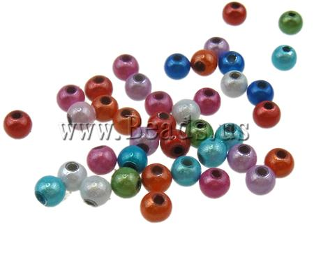 Free shipping!!!Miracle Acryl Beads,Wedding Jewelry, Round, mixed colors, 5mm, Hole:prox 2mm, 7300PCs/Ba, Sold By Ba<br><br>Aliexpress