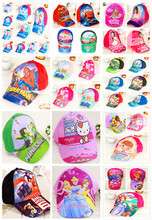 NEW style  cartoon Anna Elsa princess pig etc pattern kids adjustable cap baseball hat  sun helmet  for girls boys(China (Mainland))
