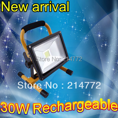 2pcs/lot, 30W rechargeable led floodlight Epistar 90-100lm/w high quality Guarantee 2years CE ROHS,led work light rechargeable(China (Mainland))