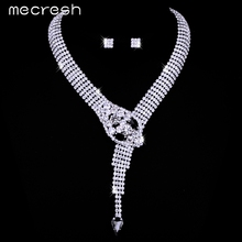 Mecresh New Unique Design Snake Choker Necklace Stud Earrings Bridal Jewelry Sets Wedding Accessories TL372(China (Mainland))