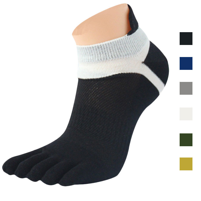 Mesh Design High Quality Men's Sport Ankle Socks men socks basketball Meias Running Five Finger Toe ft(China (Mainland))