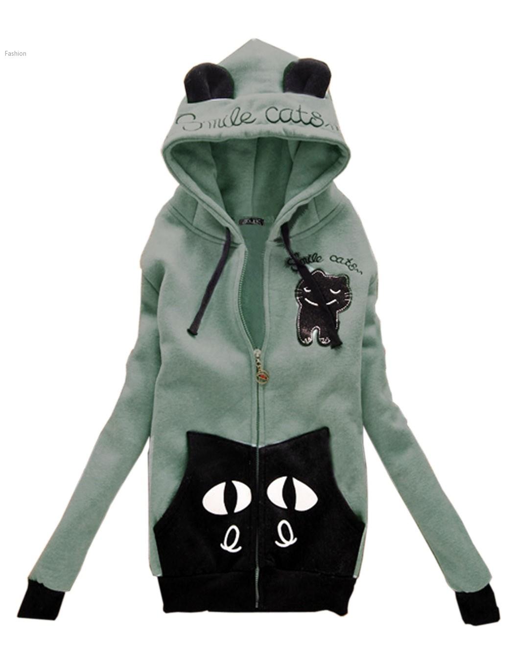 Cute Cat Ears Hooded Sweatshirt