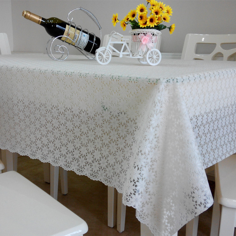 Mutil Size & Color Special Price Rural tablecloth waterproof plastic table cloth PVC table cloth protection oil tea table cloth(China (Mainland))