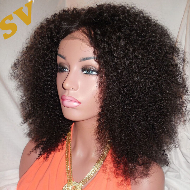 Natural Hair Lace Front Wigs 98