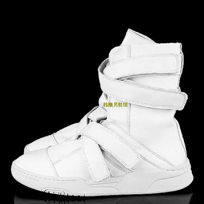 Rivets male shoes winter shoes hip-hop shoes male boots white shoe sole high-top shoes mens boots punk martin boots ankle man<br><br>Aliexpress
