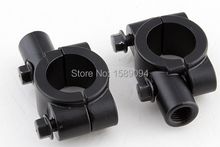 Buy Pair Motorcycle Bike Handlebar Rear View Mirror Mount Adapter Holder Clamp Black 10mm for $4.75 in AliExpress store