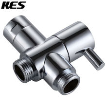 KES PV4 SOLID BRASS 3-Way Shower Arm Diverter Valve for Handshower Universal Showering Components,Chrome/Brushed Nicke(PV4-2)l(China (Mainland))