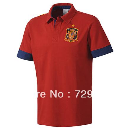 Soccer jersey 13 14 top thai quality cheap original for Spain polo shirt 2014