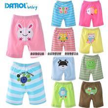 5PCS/LOT DANROL 2014 summer new cotton baby animals cartoon baby PP pants embroidered shorts(China (Mainland))