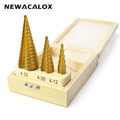 NEWACALOX Large Step Cone HSS Steel Spiral Grooved Step Drill Bit Hole Cutter Cut Tool 4