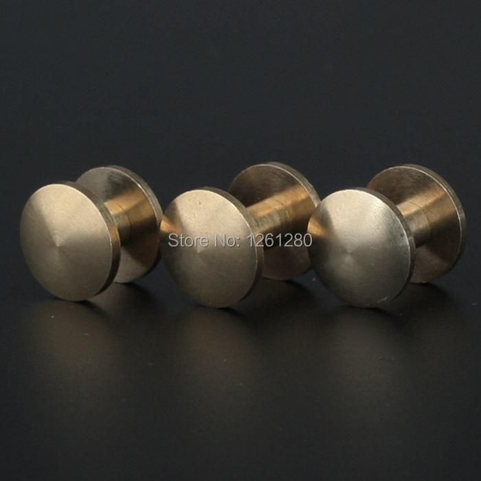 free shipping double acr 8*4*12mm wallet bag screw brass belt Rivet diy handmade leather key case hardware Wheel nail bag part<br><br>Aliexpress