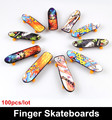 100 pieces lot Toys Hobbies Novelty Hip Hop style Finger Skateboards Classic toys for children Finger