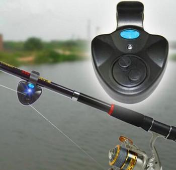 Нью-удобный черный электронный из светодиодов рыба клюет звук набат клип на род