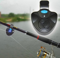 New Convenient Black Electronic LED Light Fish Bite Sound Alarm Bell Clip On Fishing Rod Hot