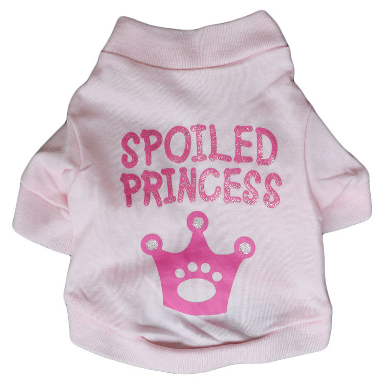 Pets Clothes Plumule Roses Print An Crown Pets Show Solicitude For Spring Summer T-shirt(China (Mainland))