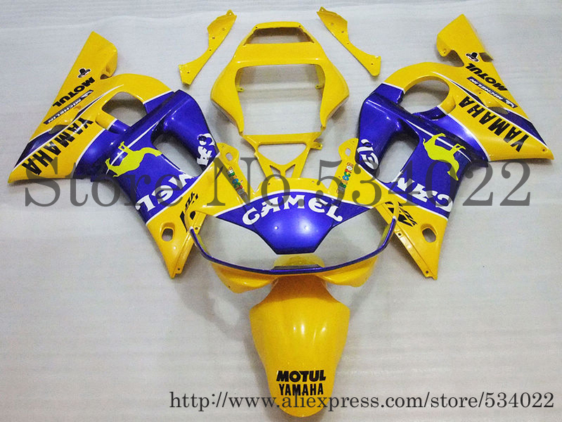 ABS Fairing Set for Yamaha blue yellow YZF-R6 1998 2002 98-02 1998-2002 98 02 R6 99 00 01 YZFR6 98 02 YZFR6 98 02 98 99 00 01 02(China (Mainland))