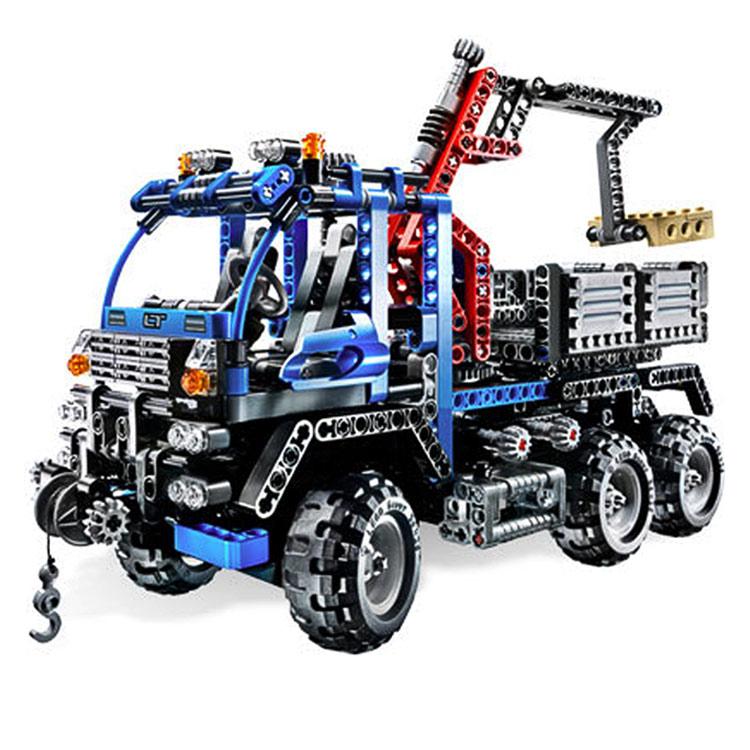 DECOOL 3331 LARGE 805Pcs Exploiture Crane model Enlighten Plastic building blocks sets educational children toys