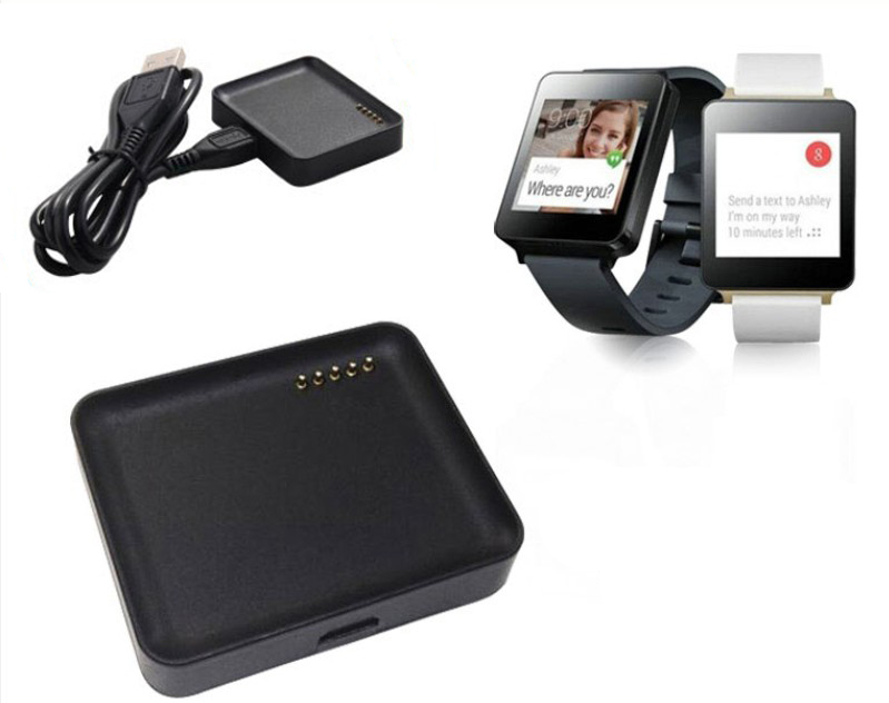Smartwatch Charging Cradle <font><b>Dock</b></font> For LG G Watch R W100 Smart Watch Battery <font><b>Charger</b></font> With Micro-Usb Cable
