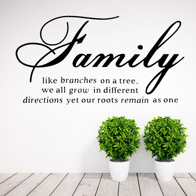 4530cm english poem wall sticker family letter wall decorative sticker home decor living room letter wall decals gadget ms614