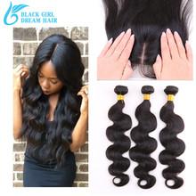7А Девственница Перуанский Человеческие Волосы Шелк База Закрытия С Bundles3Pcs, объемная Волна Необработанные Человеческих Волос С Закрытием(China (Mainland))